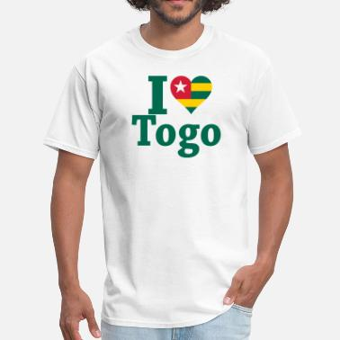 Togo I Love Togo Flag - Men's T-Shirt