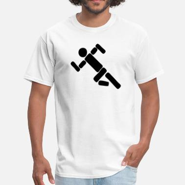 Stickfigure Kids Stickfigure Running - Men's T-Shirt