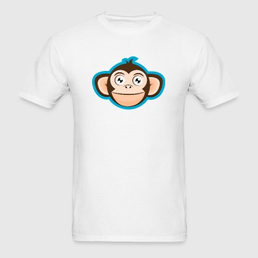 Happy Monkey Cartoon Head - Men's T-Shirt