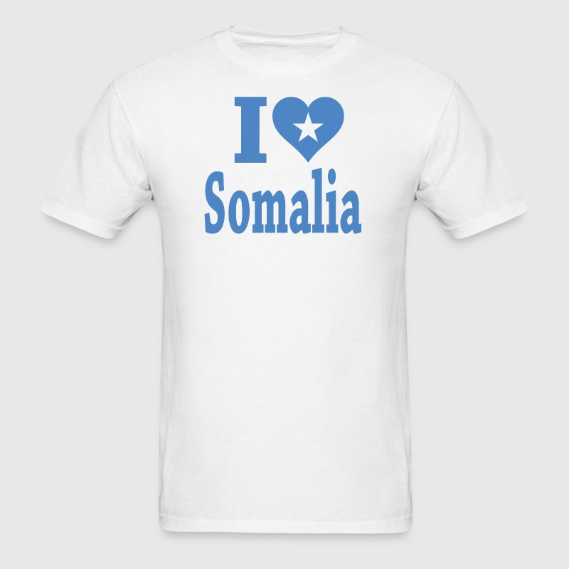 I Love Somalia Flag - Men's T-Shirt
