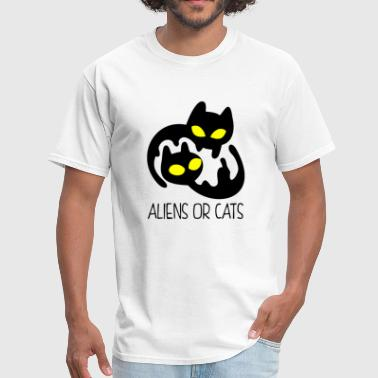 Alien Cat Aliens Or Cats - Men's T-Shirt