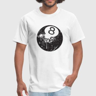 8Ball - Grungy Distressed Look - Men's T-Shirt