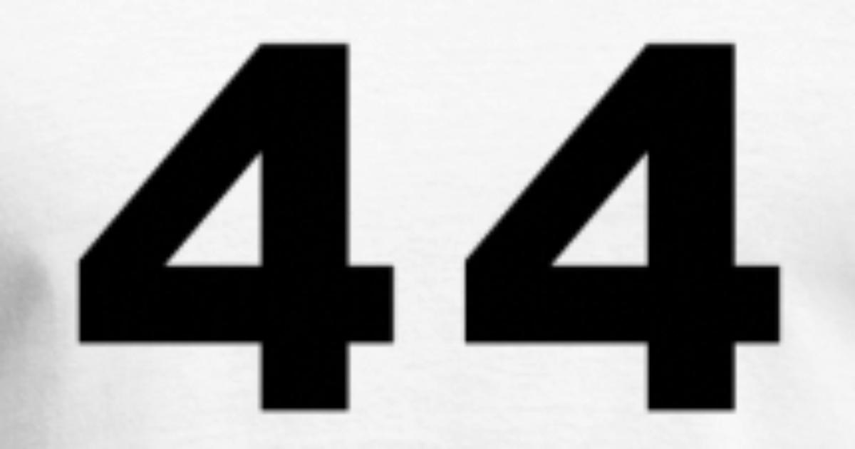 Number 44 Forty Four By Fluffylikerazors Spreadshirt