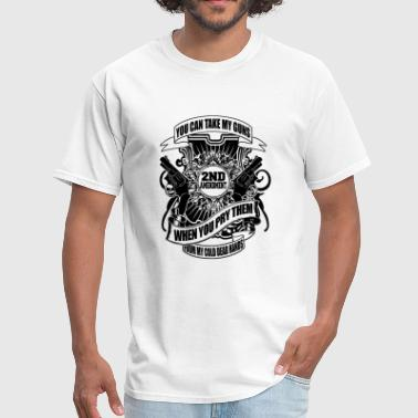 Gun - guns - Men's T-Shirt