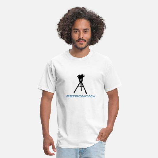 Astronomy T-Shirts - telescope astronomy - Men's T-Shirt white