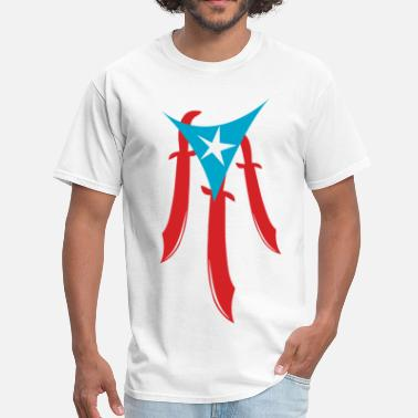 Puerto Rico Flag PuertoRico Machete - Men's T-Shirt
