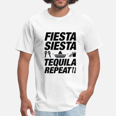 Siesta Fiesta Siesta Tequila Repeat - Men's T-Shirt