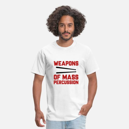 Drum T-Shirts - Weapons Of Mass Percussion - Men's T-Shirt white
