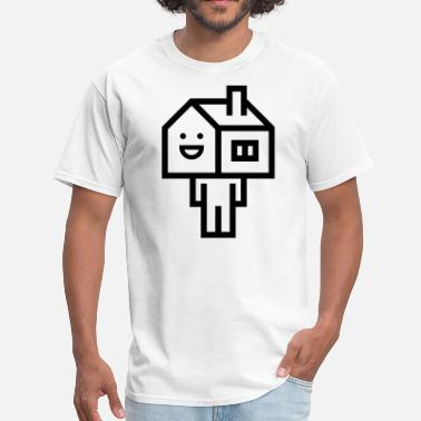 House Head Happy House Head Man - Men's T-Shirt