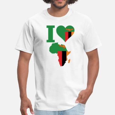 Zambia Flag Africa Map Zambia Flag - Men's T-Shirt