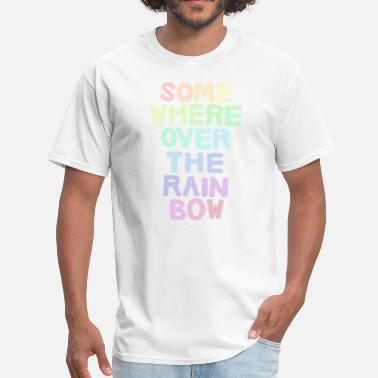Gay Skis Somewhere Over the Rainbow - Men's T-Shirt