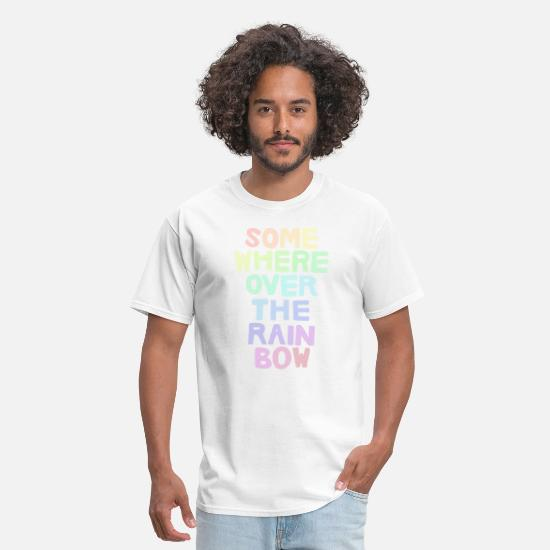 Pride T-Shirts - Somewhere Over the Rainbow - Men's T-Shirt white
