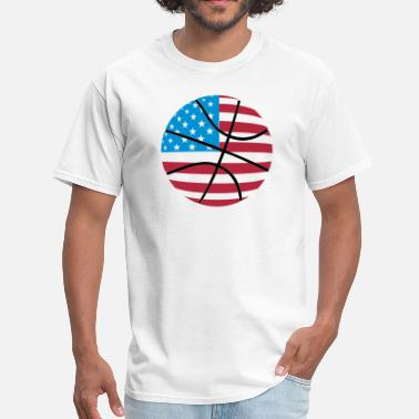 Bounce USA Flag Basketball - Men's T-Shirt