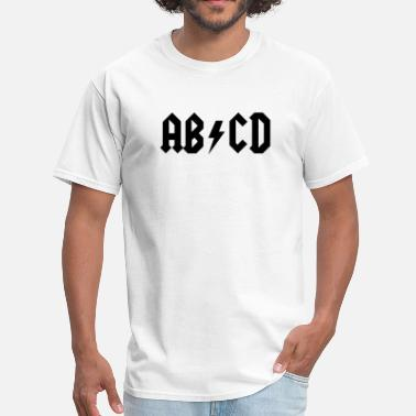 Ac Dc Funny ABCD - AC/DC Style - Men's T-Shirt