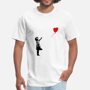 Banksy ba03 red balloon girl - Men's T-Shirt