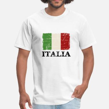 Rome Italy Flag - Men's T-Shirt