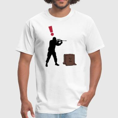 Solid Snake in a Box - Guard Alert ! - Men's T-Shirt