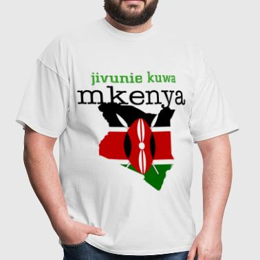kenya shield and flag - Men's T-Shirt