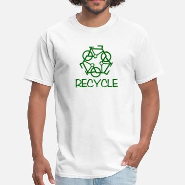 Recycling Bicycles reCYCLE - Men's T-Shirt