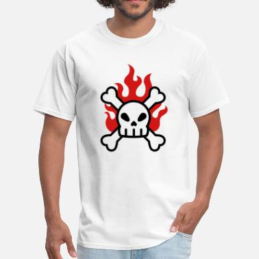 Crossbone Cute Skull Fire, Skull & Crossbones - Men's T-Shirt