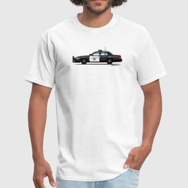 Law Enforcement Apparel California Highway Patrol CHP Crown Vic (with Lightbar) - Men's T-Shirt