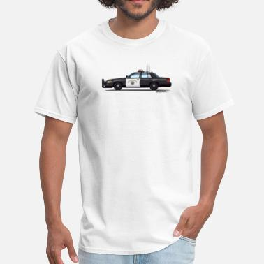 Enforcement California Highway Patrol CHP Crown Vic (with Lightbar) - Men's T-Shirt