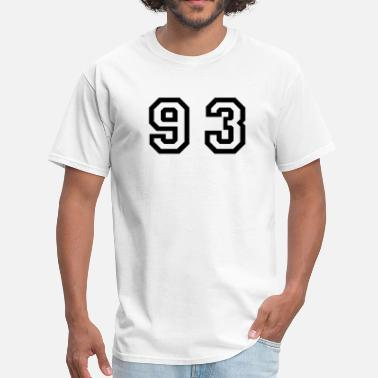93 Number - 93 - Ninety Three - Men's T-Shirt