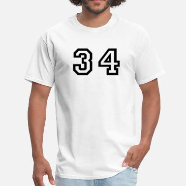 Number 34 Number - 34 - Thirty Four - Men's T-Shirt