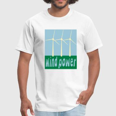 Wind Power With Wind Turbines - Men's T-Shirt
