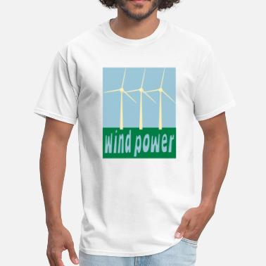 Wind Power Wind Power With Wind Turbines - Men's T-Shirt