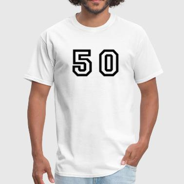 Number 50 Number - 50 - Fifty - Men's T-Shirt
