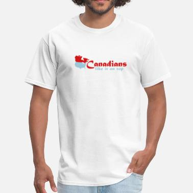 Sex Humour Canadians like it on top - Men's T-Shirt