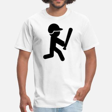 Stickman Quotes Baseball Batter Stickman - Men's T-Shirt