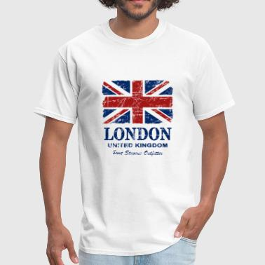 Union Jack Flag - Vintage Look - Men's T-Shirt