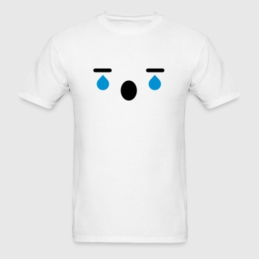 Crying Japanese Anime Face - Men's T-Shirt