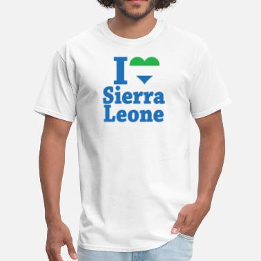 Sierra Leone I Love Sierra Leone Flag - Men's T-Shirt