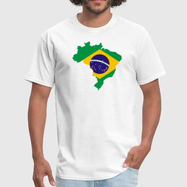 Map Brazilian Flag - Men's T-Shirt