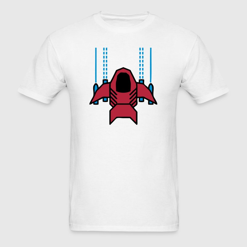Spaceship Shooter (Retro Game) - Men's T-Shirt