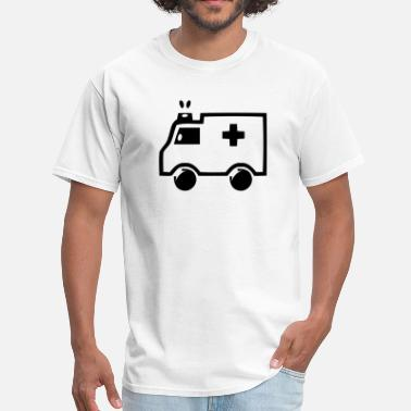 Colorful Car Graphic Design On A Ambulance Icon - Men's T-Shirt