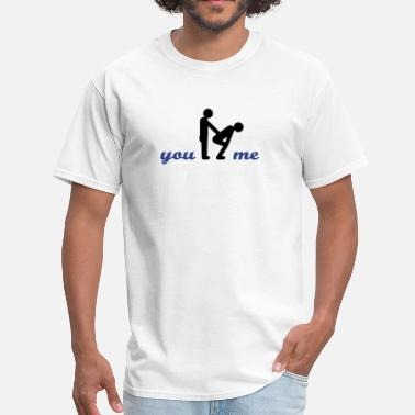 Provocative gay guys bottom - Men's T-Shirt