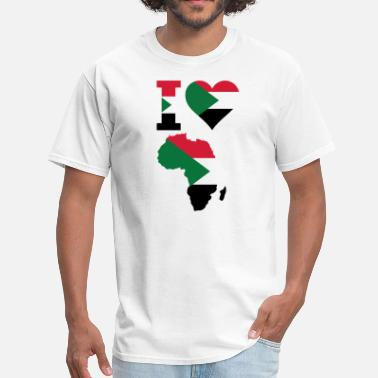 Africa Africa Map Sudan Falg - Men's T-Shirt