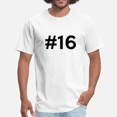 Back Number Numbers #16 (number sixteen) - Men's T-Shirt
