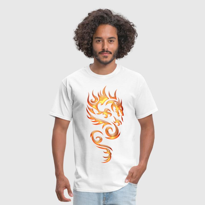 Tribal Fire Dragon - Men's T-Shirt