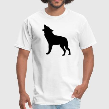 Howling Wolf Silhouette - Men's T-Shirt