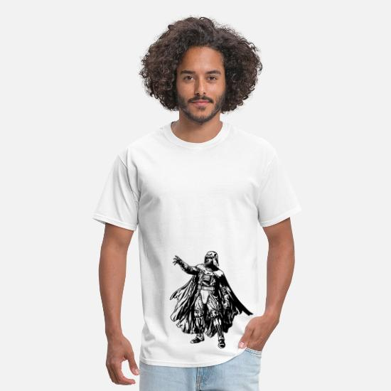 Leia T-Shirts - Cool Star Wars Darth Vader drawing - Men's T-Shirt white