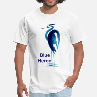 Bittern Blue Heron - Men's T-Shirt
