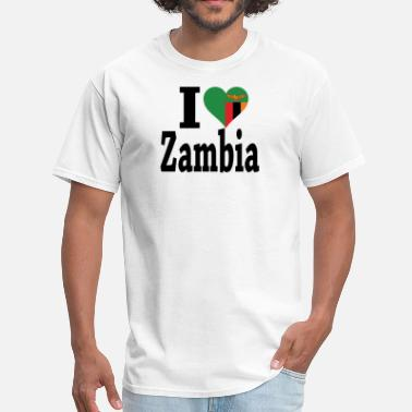 Zambia Flag I Love Zambia Flag - Men's T-Shirt