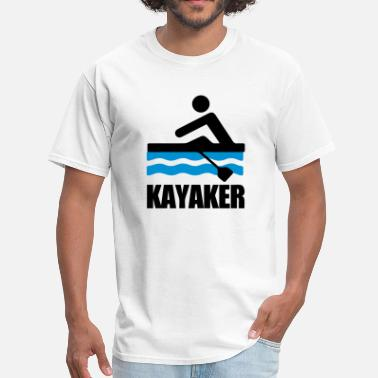 Kayaks Kayaker (Kayaking) - Men's T-Shirt