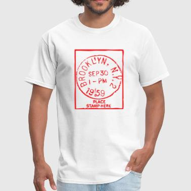 Postage Stamp Brooklyn Stamp - Men's T-Shirt