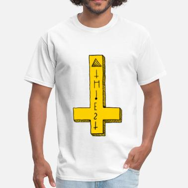 Pulled Over Atheist Cross Pull-Over - Men's T-Shirt
